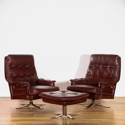 Set of 2 lounge chairs from the sixties by Arne Norell for Vatne Møbler