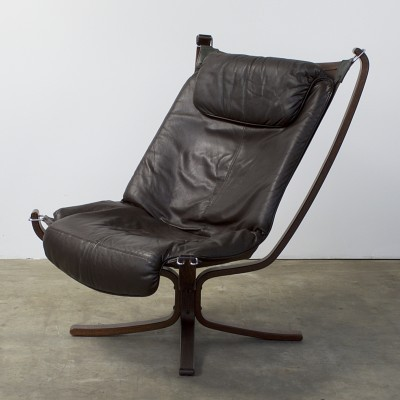Falcon Sling lounge chair by Sigurd Ressell for Vatne Møbler, 1970s