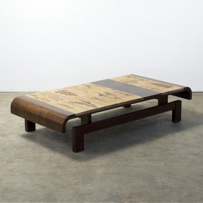 Handcraftwork coffee table by Roger Capron for Capron, 1950s