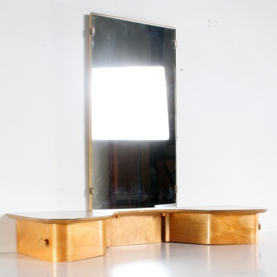 Dressing Table wall unit from the fifties by Cees Braakman for Pastoe