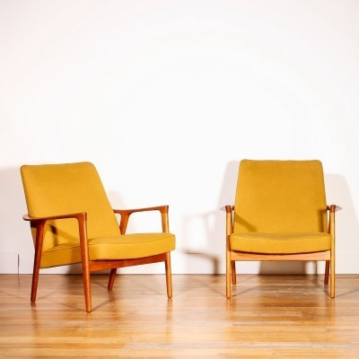 Pair of lounge chairs by Inge Andersson for Bröderna Andersson, 1950s