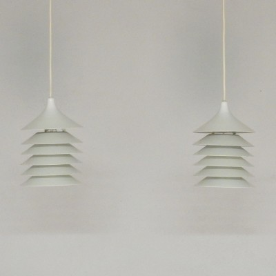 Set of 2 Duett hanging lamps from the seventies by Bent Gantzel Boysen for Ikea