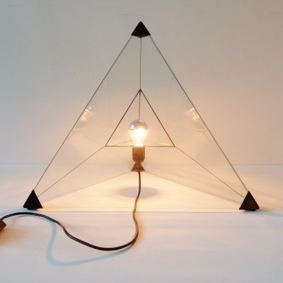 Tetrahedron desk lamp by Frans van Nieuwenborg & Martijn Wegman for Indoor, 1970s
