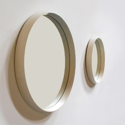 Set of 2 Circular mirrors from the sixties by unknown designer for Schöninger