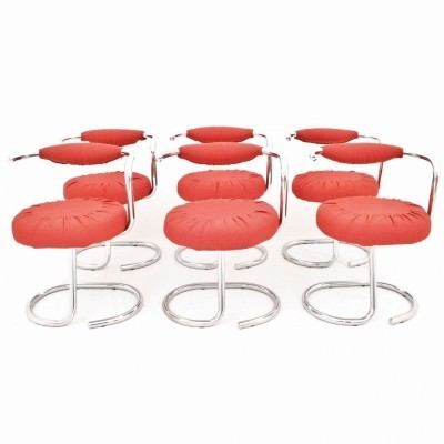 Set of 6 dining chairs by Giotto Stoppino for Stoppino, 1960s