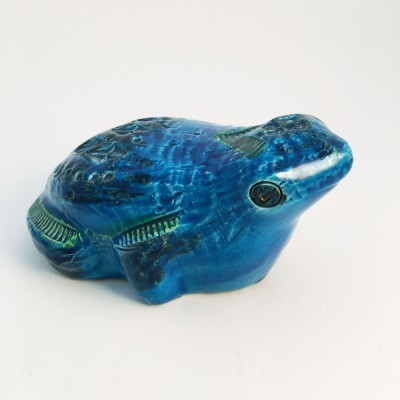 Ceramic Frog from the seventies by Aldo Londi for Flavia Montelupo