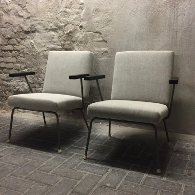 Pair of Model 415/1401 lounge chairs by Wim Rietveld for Gispen, 1950s
