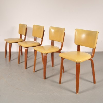Set of 4 dinner chairs from the fifties by Cor Alons for Gouda den Boer