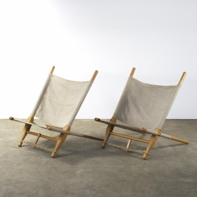 Pair of Saw lounge chairs by Ole Gjerløv Knudsen for Cado, 1950s
