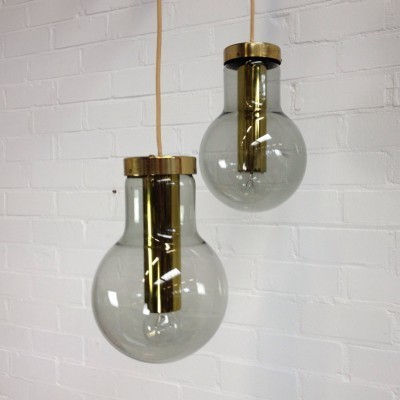 5 Bulb hanging lamps from the sixties by unknown designer for Raak Amsterdam