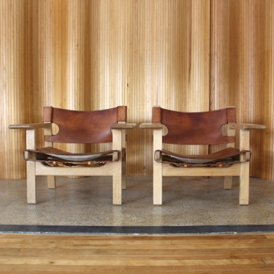 Set of 2 Spanish lounge chairs from the fifties by Børge Mogensen for Fredericia