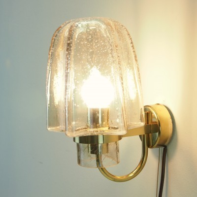 Glashütte Limburg wall lamp, 1950s