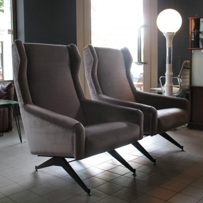 Pair of Botto & Co lounge chairs, 1960s