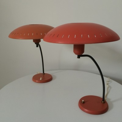 Set of 2 desk lamps from the sixties by Louis Kalff for Philips