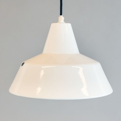 Set of 2 Emaillearmatur hanging lamps from the fifties by unknown designer for Louis Poulsen