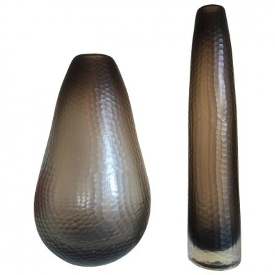Set of 2 Battuto vases from the fifties by unknown designer for Murano