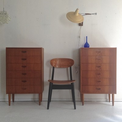 Set of 2 chest of drawers from the fifties by unknown designer for unknown producer
