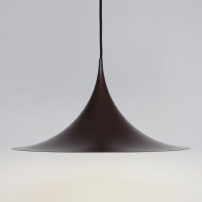 Semi Pendant hanging lamp from the sixties by Thorsten Thorup & Claus Bonderup for Fog & Mørup