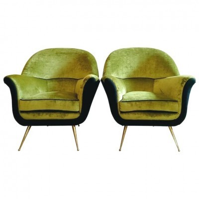 Set of 2 arm chairs from the fifties by unknown designer for unknown producer