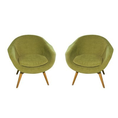 Pair of František Jirák arm chairs, 1960s