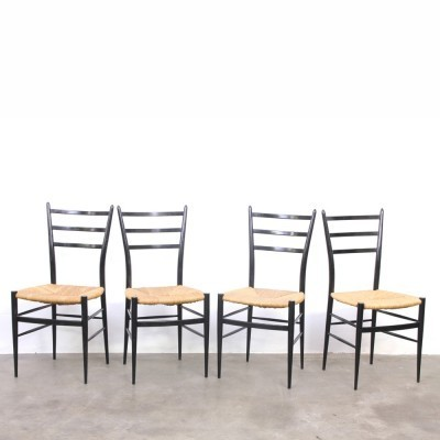 Set of 4 Spinetto dinner chairs from the fifties by unknown designer for Chiavari