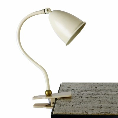 Small metal clamp desk light from the fifties