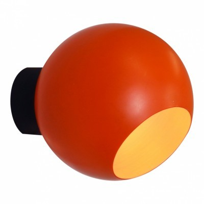 Orange space age globe wall light from the seventies