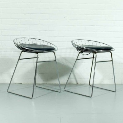 Set of 2 stools from the fifties by Cees Braakman for Pastoe