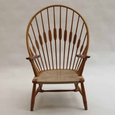 Peacock arm chair from the sixties by Hans Wegner for Johannes Hansen