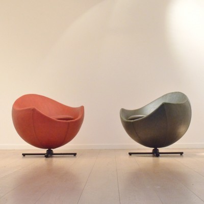 Set of 2 Mars lounge chairs from the fifties by Pierre Guariche for Meurop