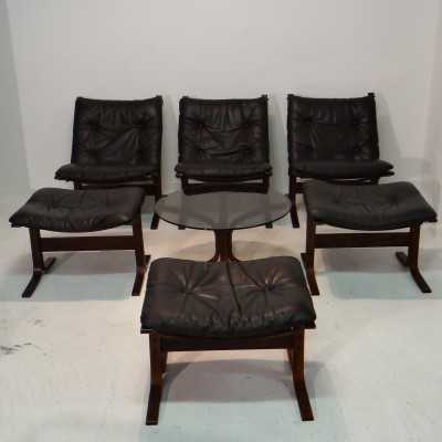Set of 7 Siesta seating groups from the sixties by Ingmar Relling for Westnofa