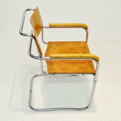 P34 arm chair from the twenties by Marcel Breuer for unknown producer