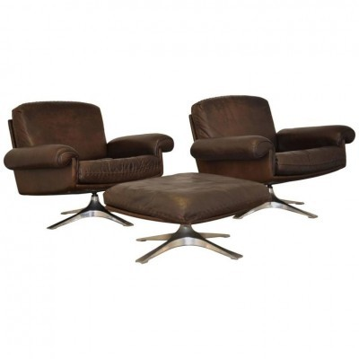 Pair of DS 31 arm chairs by De Sede Design Team for De Sede, 1970s