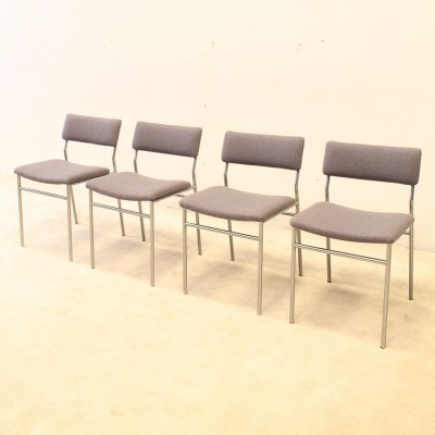 Set of 4 dinner chairs from the sixties by Martin Visser for Spectrum