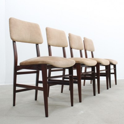 Set of 4 dinner chairs from the fifties by unknown designer for Dassi