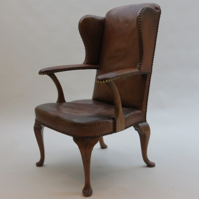 Hansen Lysberg & Therp 1940s Danish Leather Armchair