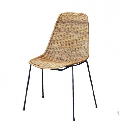 Basket dinner chair by Franco Campo & Carlo Graffi for Home, 1950s
