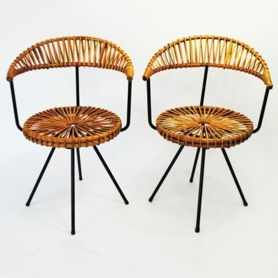2 dinner chairs from the sixties by Dirk van Sliedregt for Rohé Noordwolde