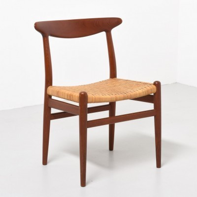 6 W2 dinner chairs from the fifties by Hans Wegner for C M Madsen