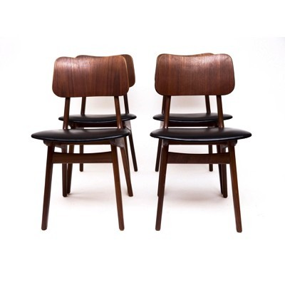 Set of 4 dinner chairs by Ib Kofod Larsen for unknown producer