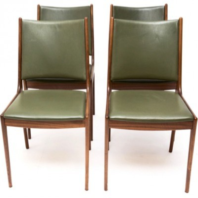 Set of 4 dining chairs by Johannes Andersen for Uldum Møbelfabrik, 1950s