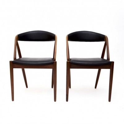 Set of 4 Model 31 dinner chairs from the fifties by Kai Kristiansen for Schou Andersen SVA Møbler