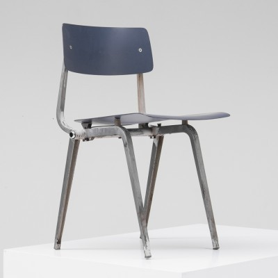 Foldable Revolt dinner chair from the fifties by Friso Kramer for Ahrend de Cirkel
