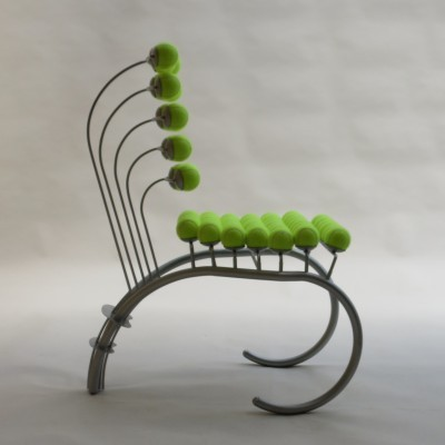 Wimbledon Tennis Chair dinner chair from the eighties by unknown designer for unknown producer