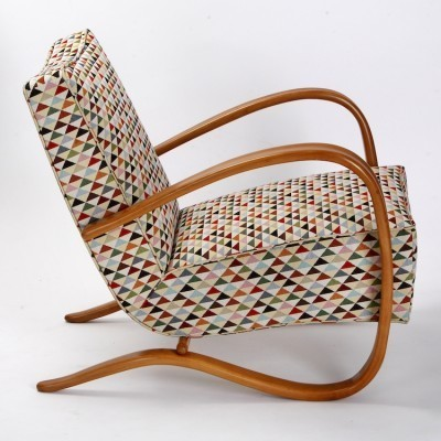 Pair of Model H - 269 arm chairs by Jindřich Halabala for Spojene UP Zavody, 1930s