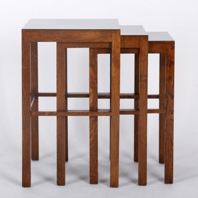 H - 50 nesting table from the thirties by Jindřich Halabala for Spojene UP Zavody