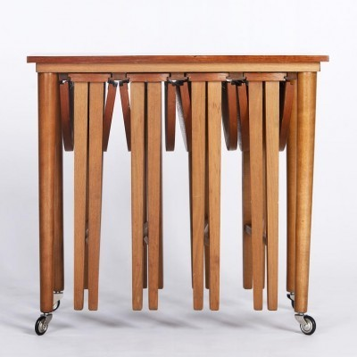 Set of 4 nesting tables from the sixties by Poul Hundevad for Novy Domov