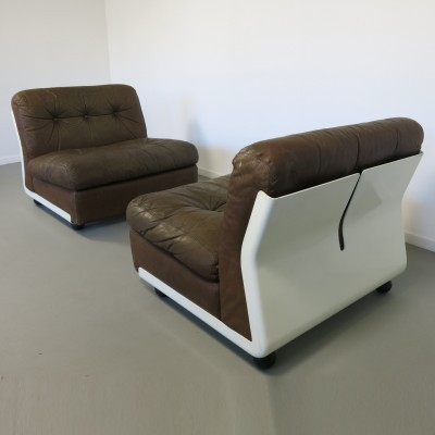 Set of 2 Amanta lounge chairs from the sixties by Mario Bellini for C & B Italia