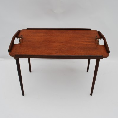 Servingtray Folding Table from the sixties by unknown designer for Aase Dreieri Ganddal Norway