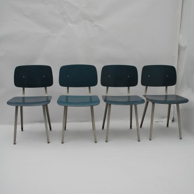 Set of 4 Revolt dinner chairs from the fifties by Friso Kramer for Ahrend de Cirkel